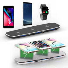 QI 3 in 1 Rapida Wireless Caricabatterie Ricarica Supporto per iPhone x 8 PLUS