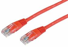 CAT5e Cable Ethernet Lan Network CAT5 RJ45 Patch Cord Internet Red NEW Lot