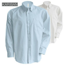 Kariban UOMO MANICA LUNGA EASY CARE CON BOTTONI CAMICIA OXFORD