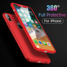 FLOVEME 360 Cas De Protection Complet Pour iPhone X 8 7 Plus 6 6 S Plus Trempé