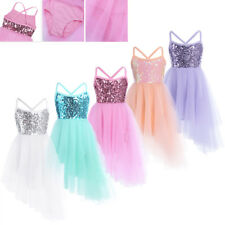 Children Kids Girls Leotard Dance Dress Costumes Ballet Tutu Skirt Dancewear
