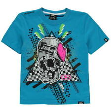 Boys No Fear Skull Skeleton Racing T-Shirt Top Ages 7 through to 13 new with tag