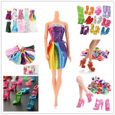 10/20/40 Handmade Party Clothes Dresses + 10 Shoes for Barbie Dolls Mixed