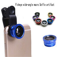 New Mobile Phone Camera Lens Wide Angle+Fish Eye+Macro Clip On Camera Lens Kit