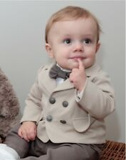 Baby Boy Wedding Christening Baptism Party Smart Suit Outfit Set Little Prince