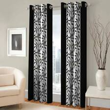 Optimistic Home Furnishing Polyester Floral Eyelet Door Curtain - IBF