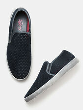 Roadster Men Laser-Cut Slip-On Sneakers-169-GAZ