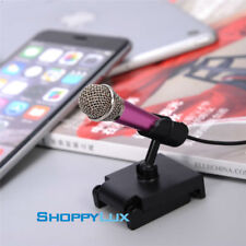 High Quality Smartphone IOS Android MiniMicrophone Phone Karaoke 3.5mm Wired Mic