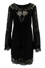 Embellished Beaded Sequin Embroidered Shift Mini Evening Gatsby Dress Myla #3716