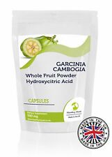 Garcinia Cambogia Whole Fruit Powder 500mg 30/60/90/120/180 Capsules Supplements