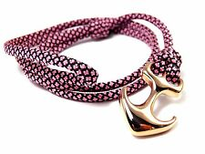 Ancre armband-paracord-verstellbar-wickelarmband-edelstahl-rose Rose Diamonds