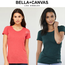 BELLA LADIES SHORT SLEEVE TEE CREW NECK T-SHIRT PLAIN TOP SMART CASUAL COLOURS