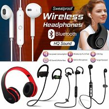 Sweatproof Wireless Bluetooth Earphones Headphones Headset Mic Sports Gym Music