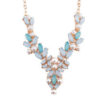 VNECK BOHEMIAN NECKLACE CRYSTAL PEARL ACCESSORIES SUMMER FASHION JEWELRY FOR