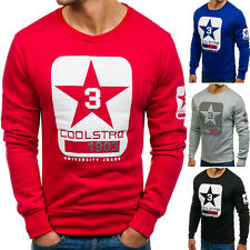 BOLF homme sweat pull Maillot manches longues pull col rond motif 1 A 1 classic