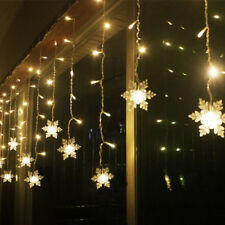 38M LED CURTAIN SNOWFLAKE STRING LIGHTS LED FAIRY LIGHTS 8 MODES CHRISTMAS