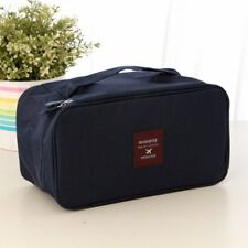 FASHION DOUBLE LAYER UNDERWEAR COSMETIC STORAGE BAG MAKEUP TOOL BOX