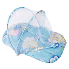 NEW FOLDABLE BABY COTTON PADDED MATTRESS PILLOW WARM BED MOSQUITO NET CRIB TENT