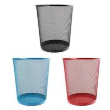 NEW COLOURFUL METAL MESH WASTE BIN RUBBISH PAPER NET BASKET HOME OFFICE DURABLE