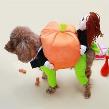 FUNNY PET DOG PUMPKIN MOVEING SUIT PET PARTY FESTIVAL APPAREL CLOTHING COSTUME