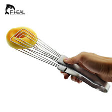 FHEAL Multifonctionnel Clip Barbecue En Acier Inoxydable Egg Beaters Pinces À