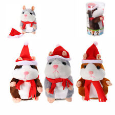 18CM LOVELY TALKING HAMSTER CHRISTMAS PLUSH TOY SPEAK TALKING SOUND RECORD
