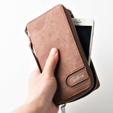 MEN CASUAL LONG WALLET WRIST PHONE BAG CARD HOLDER LONG CLUTCH BAG WITH