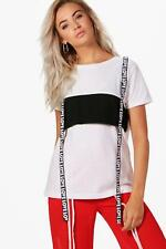 Boohoo Charlie Tape Detail Oversized Tee para Mujer