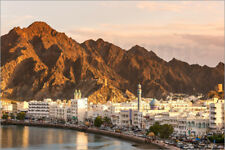 Cuadro de madera The old town of Mutrah at sunset, Muscat, Oman - Matteo Colombo