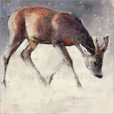 Cuadro sobre lienzo Jung deer in winter - Mark Adlington