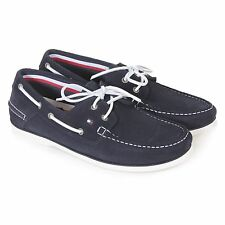 Tommy Hilfiger Men's Classic Suede Lace Up Boat Shoe Midnight