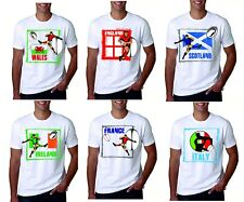 Six Nations T Shirt Rugby England Wales Scotland Ireland Italy France