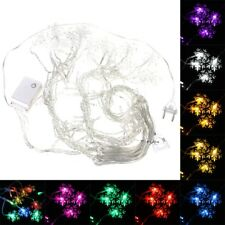 35M 100LED SNOWFLAKE ICE CURTAIN STRING FAIRY LIGHTS XMAS PARTY WEDDING DECOR
