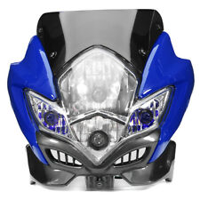 UNIVERSAL MOTORCYCLE DIRT BIKE STREET FIGHTER HEADLIGHT LAMP BIKE FAIRING