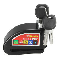 MOTORCYCLE SCOOTER BIKE DISC BRAKE LOCK SECURITY ANTI THEFT ALARM REMINDER CABLE