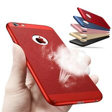 Premium Mesh Heat Dissipation Breathable PC Hard Back Case for iPhone 8 8 Plus X