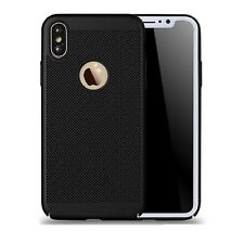Black Slim Luxury Mesh Heat Dissipation PC Hard Back Case for iPhone 8 8 Plus X