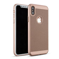Gold Slim Luxury Mesh Heat Dissipation PC Hard Back Case for iPhone 8 8 Plus X