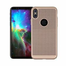 Gold Mesh Heat Dissipation Breathable PC Hard Back Case for iPhone 8 8 Plus X