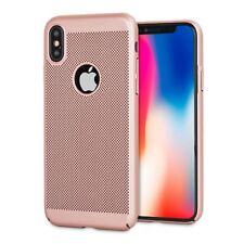 Rose Gold Mesh Heat Dissipation PC Hard Back Case for iPhone 8 8 Plus X