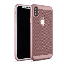 Rose Gold Slim Luxury Mesh Heat Dissipation PC Hard Case for iPhone 8 8 Plus X