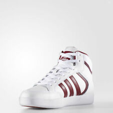Adidas Men's Originals Varial Mid Leather Shoes White/ Burgundy various sizes