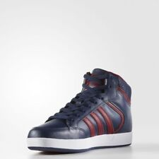 Adidas Men's Originals Varial Mid Leather Shoes Navy/Burgundy/White many sizes!!