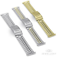 Fits 16 - 21mm Stainless Steel Safety Clasp Watch Strap Band Bracelet 18mm Chain
