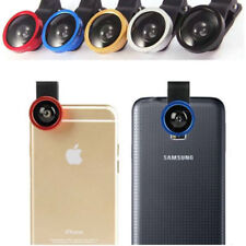 t- 3in1 Fisheye Camera Angle Widener Macro Len Clip for iPhone Samsung Sony IPAD