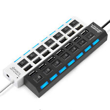 7 Ports USB 2.0 Splitter HUB Adapter ON/OFF Independent Switch for Laptop PC