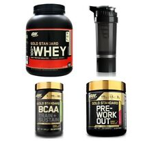 Optimum Nutrition Gold Standard Whey Protein Pre-Workout & BCAA Powder + Shaker