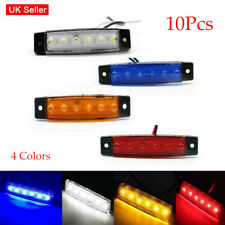 10x 12V 6 LED Side Marker Indicator Light Trailer Truck Lorry Lamp Waterproof UK