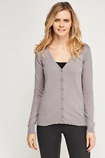 Women Hering 100% Cotton V Neck Button Up Long Sleeve Ladies soft Knit Cardigan