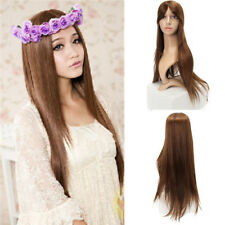 LONG STRAIGHT HEAT RESISITANT FIBER SYNTHETIC WIG COSPLAY WIGS FULL HAIR WOMEN